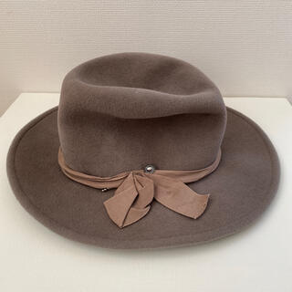 トゥモローランド(TOMORROWLAND)のトゥモローランド購入 ハット 帽子 グレージュ(ハット)