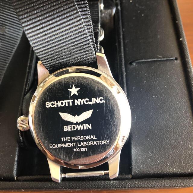 schott(ショット)のbedwin ✖️ schott パイロットウォッチ ミリタリーウォッチ メンズの時計(腕時計(アナログ))の商品写真