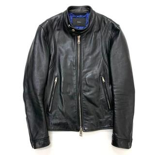 エディション(Edition)のEdition エディション カウレザー シングルライダースジャケット 0(ライダースジャケット)