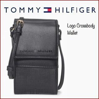 トミーヒルフィガー(TOMMY HILFIGER)のシンプルだけどTOMMY HILFIGERらしいおしゃれなアイフォンケース(ショルダーバッグ)