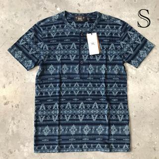 ダブルアールエル(RRL)の新品 ダブルアールエル RRL Tシャツ ヘンリーネック インディゴ (Tシャツ/カットソー(半袖/袖なし))