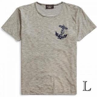 ダブルアールエル(RRL)の新品 ダブルアールエル RRL スラブ Tシャツ ボーダー L ノーティカル(Tシャツ/カットソー(半袖/袖なし))