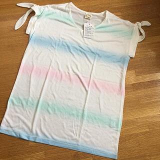 エージーバイアクアガール(AG by aquagirl)のAG アクアガール 夏 白 Tシャツ タイダイ レインボー(Tシャツ(半袖/袖なし))