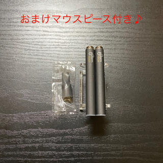 プルームテック(PloomTECH)のP1284番プルームテック 純正 バッテリー2本おまけマウスピース付きブラック(タバコグッズ)