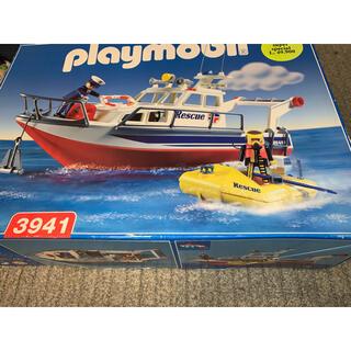 新品 プレイモービル ポリス 救助船 3941 絶版 箱キズあり レスキュー(模型/プラモデル)