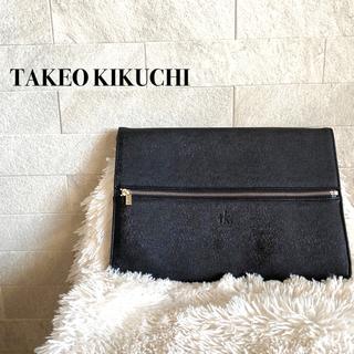 タケオキクチ(TAKEO KIKUCHI)のtk. タケオキクチ ノートパソコン ケース クラッチバッグ ブラック(セカンドバッグ/クラッチバッグ)