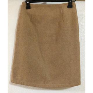 タイトスカート キャメル(ひざ丈スカート)