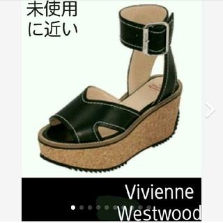 ヴィヴィアンウエストウッド(Vivienne Westwood)のVivienneWestwoodスレイブサンダル黒 ロッキンシューズヴィヴィアン(サンダル)