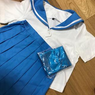 キルラキル マコ セーラー 服 青 ブルー(衣装一式)