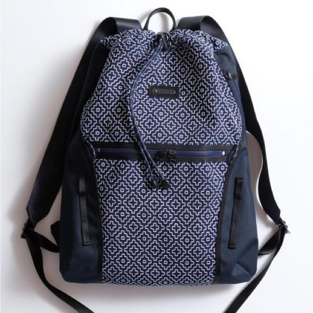 master-piece(マスターピース)の新品未使用FDMTL SASHIKO BACKPACK NAVY メンズのバッグ(バッグパック/リュック)の商品写真