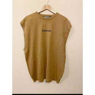 カンゴール(KANGOL)の【KANGOL】ニット ノースリーブ Mサイズ(Tシャツ/カットソー(半袖/袖なし))