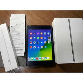 アップル(Apple)の【美品】iPad mini 5 64GB WI-FI  アップルペンシルセット(タブレット)