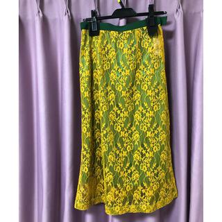 ロイスクレヨン(Lois CRAYON)のLois CRAYON ロイスクレヨン  総レースロングスカート M(ひざ丈スカート)