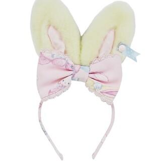 アンジェリックプリティー(Angelic Pretty)のmoko moko bunny カチューシャ(カチューシャ)