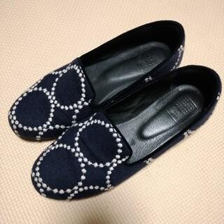 ミナペルホネン(mina perhonen)のmina perhonen タンバリン 靴 37(23.5cm )(ローファー/革靴)