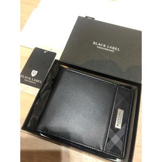 ブラックレーベルクレストブリッジ(BLACK LABEL CRESTBRIDGE)の新品 ブラックレーベルクレストブリッジ 二つ折り レザー財布 ブラック(折り財布)