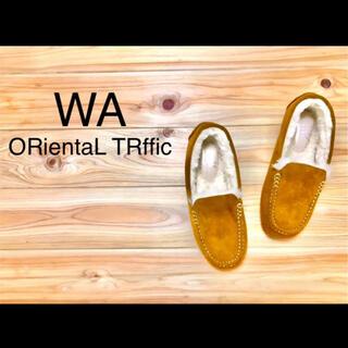 オリエンタルトラフィック(ORiental TRaffic)のWA  ORientaL TRffic フェイクムートン シューズ(スリッポン/モカシン)