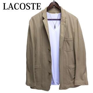 ラコステ(LACOSTE)のLACOSTE テーラードジャケット ベージュ シンプル カットジャケット(テーラードジャケット)