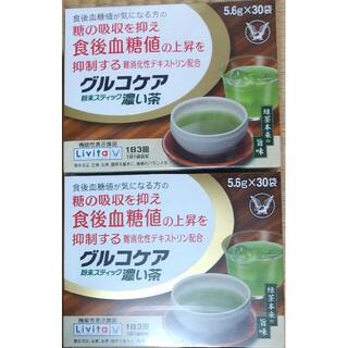 タイショウセイヤク(大正製薬)の2箱60袋 大正製薬 グルコケア 濃い茶 粉末スティック 難消化性デキストリン(健康茶)