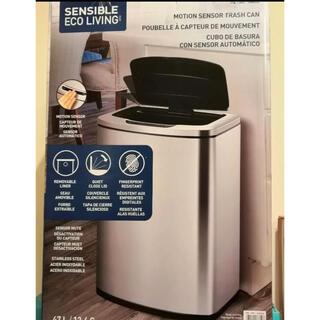 コストコ(コストコ)の新品 EKO センサー付き ゴミ箱 自動開閉 ステンレス 47L 大容量(ごみ箱)