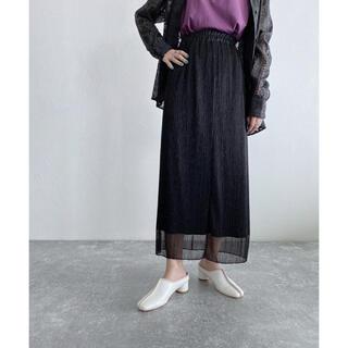 ジーナシス(JEANASIS)のJEANASIS シャイニープリーツナロースカート(ロングスカート)