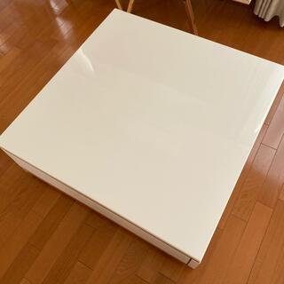 【 期間限定値引き 】美品 センターテーブル 便利な収納つき(ローテーブル)