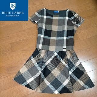 BURBERRY BLUE LABEL - BLUE LABEL CRESTBRIDGE セットアップ風ワンピース 春服
