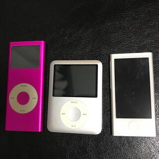 アイポッド(iPod)のipod nano ジャンク 3台セット(ポータブルプレーヤー)