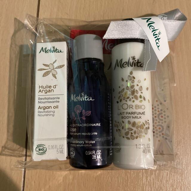 Melvita(メルヴィータ)のMelvita メルヴィータ アルガンオイル、化粧水 お試しセット コスメ/美容のキット/セット(サンプル/トライアルキット)の商品写真