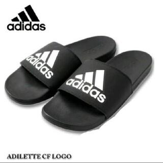 アディダス(adidas)の送料込み新品 アディダス 黒 アディレッタ 27.5センチ ブラック black(サンダル)