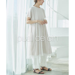 ✱美品✱ ピュアルセシン 水玉チュール刺繍ワンピース