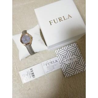 フルラ(Furla)の値下げ!【フルラ】ピンクゴールド×グレーベルト シェル文字盤 腕時計 レディース(腕時計)