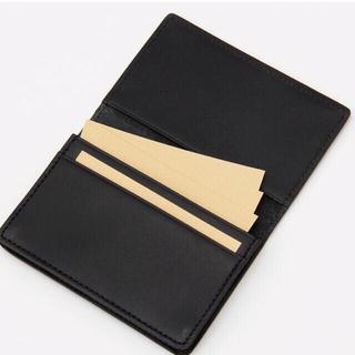 ムジルシリョウヒン(MUJI (無印良品))の【新品】MUJI イタリア産ヌメ革 カードケース(名刺入れ/定期入れ)