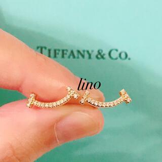 ティファニー(Tiffany & Co.)の美品 ティファニー Tiffany Tスマイル ピアス ダイヤ K18YG(ピアス)