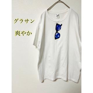 グラサン Tシャツ 白T 爽やか 夏 ビーチ(Tシャツ/カットソー(半袖/袖なし))