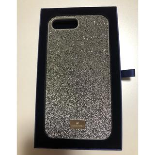スワロフスキー(SWAROVSKI)の美品 swarovski iPhoneケース plus シリーズ シルバー 箱付(iPhoneケース)