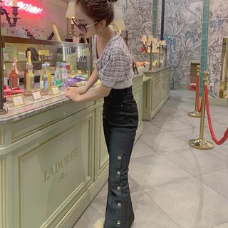 バブルス(Bubbles)のMelt the lady  ボタンスリットデニムパンツ S(デニム/ジーンズ)