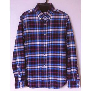 エディフィス(EDIFICE)のEDIFICE 高級ドレスライン チェックシャツ(シャツ)