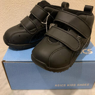 アシックス(asics)のすくすく 14.5 黒 ブラック 星 スクスク 男の子 女の子 アシックス (スニーカー)