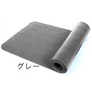 新品 極厚10mm ヨガマット グレー トレーニング ストレッチ ホットヨガ(ヨガ)