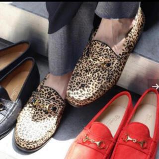 フレームワーク(FRAMeWORK)の【未使用】DANIEL LEPORI ビットローファー レオパード 36(ローファー/革靴)