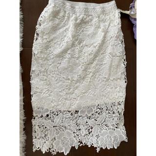 モエリー(MOERY)の花柄レーススカート(ひざ丈スカート)