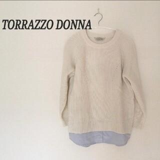 トラッゾドンナ(TORRAZZO DONNA)のTORRAZZO DONNA/レイヤード風ニット(ニット/セーター)
