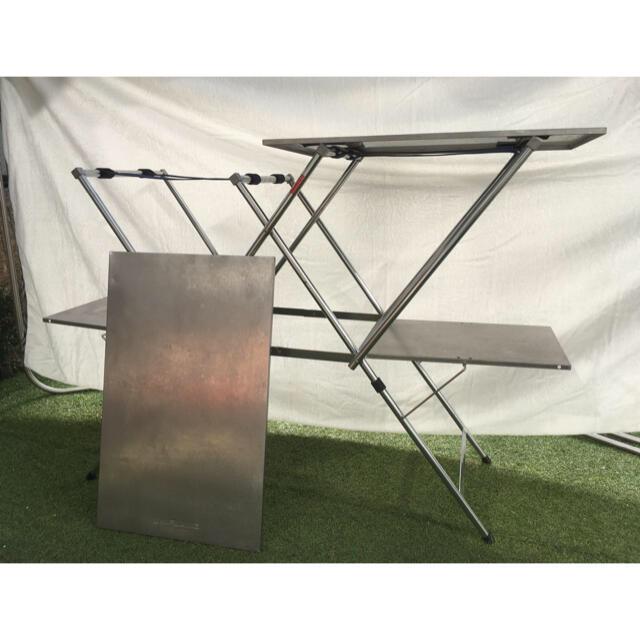 UNIFLAME(ユニフレーム)のユニフレーム UNIFLAME キッチンスタンド2 天板セット スポーツ/アウトドアのアウトドア(テーブル/チェア)の商品写真