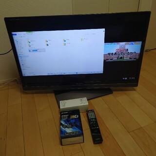 アクオス(AQUOS)の40型テレビ3D眼鏡2個付 シャープアクオス LC-40L5(テレビ)