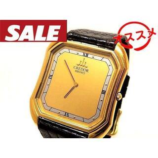セイコー(SEIKO)のセイコー クレドール ■ 9300-5490 イエローゴールド K14 革ベルト(腕時計(アナログ))