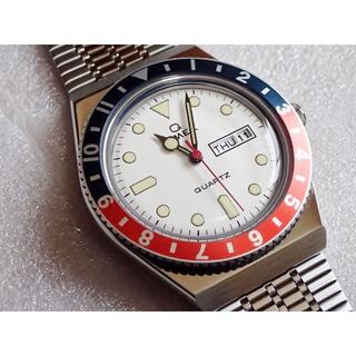 タイメックス(TIMEX)のTIMEX Q ペプシベゼル ホワイト TW2U61200 極美品 付属品完備(腕時計(アナログ))