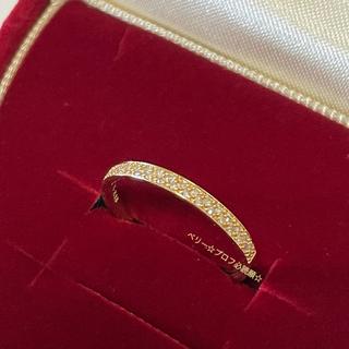 アガット(agete)の【美品】agate K18 パブェダイヤモンドリング(リング(指輪))