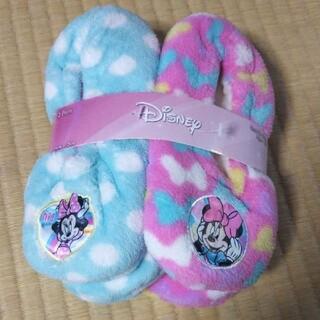ディズニー(Disney)の新品ミニーちゃんルームシューズ2足セット(スリッパ)