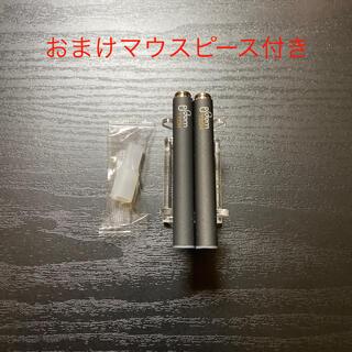 プルームテック(PloomTECH)のP1285番プルームテック 純正 バッテリー2本おまけマウスピース付きブラック(タバコグッズ)